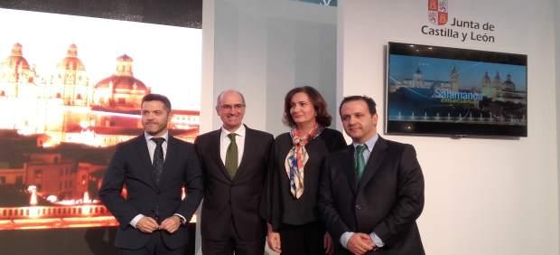 Julio López (izquierda) y Javier Iglesias (centro) junto a García Cirac