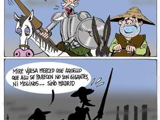Contaminación en Madrid. Viñeta de Asier y Javier.