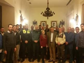 Autoridades participantes en la reunión