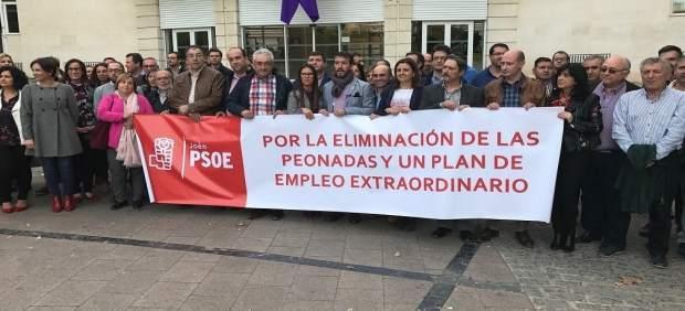 Concentración del PSOE