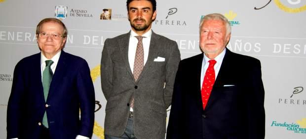 El presidente de la Fundación Rural del Sur, José Luis García Palacios, y Perera