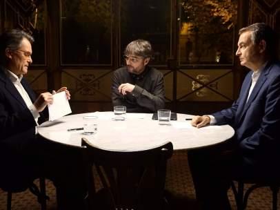 Mas y Zapatero en Salvados