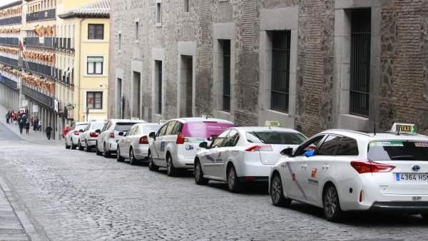 Taxi, Parada, Aparcamiento, Línea , Vehículos