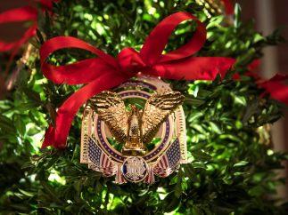Detalle de un adorno navideño