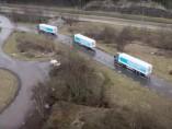 Ejemplo de 'platooning' o tren de carretera