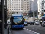 Un autobús de la EMT en Gran Vía
