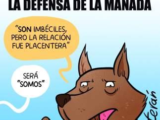 La defensa de la manada. Viñeta de Álvaro Terán
