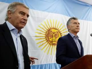 Mauricio Macri y Óscar Aguad