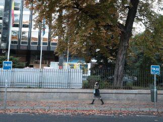 Otra parada vacía en el centro de Madrid