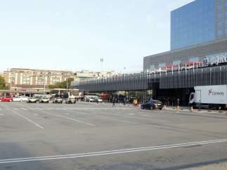 La estación de Sants, sin taxis