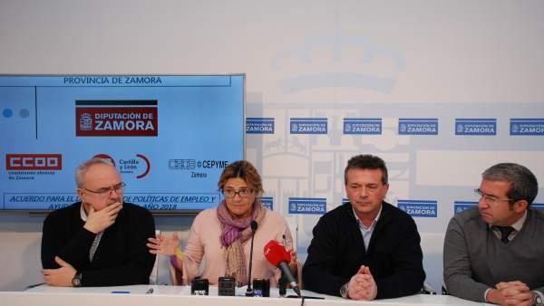 Rueda de prensa de la Mesa de Diálogo Social de la Diputación de Zamora
