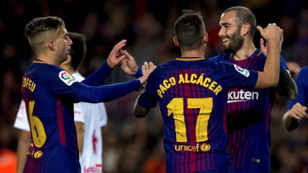 Paco Alcácer, Aleix Vidal y Deulofeu