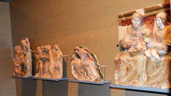 Piezas de Sijena, en el Museo de Lleida