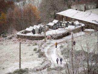 Lugo, bajo un manto blanco