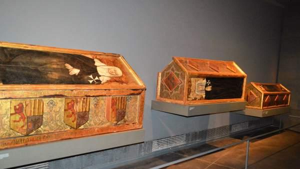 Cajas sepulcrales originarias de Sijena del Museu de Lleida