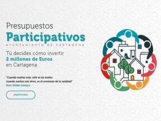 Cartel de los presupuestos participativos