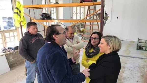 Imagen de la visita a las obras