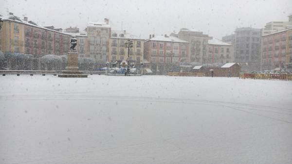 Burgos.- Primera nevada en Burgos