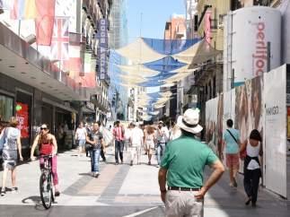 La calle Preciados de Madrid