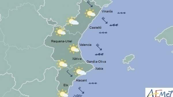 La mayoría de la región se mantendrá con cielos despejados