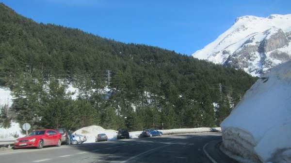 Nieve en el Pirineo oscense.