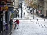 Nieve en las calles de Vitoria