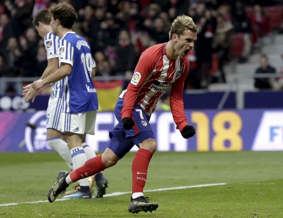 Filipe y Griezmann firman la remontada del Atlético de Madrid ante la Real Sociedad
