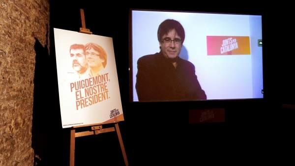 Cartel de Junts per Catalunya