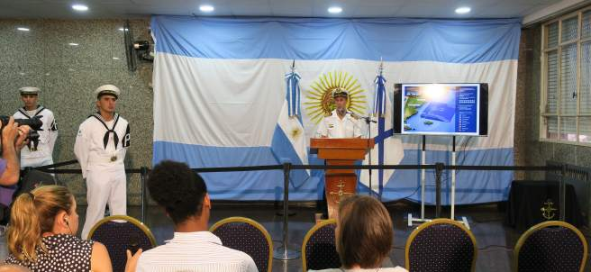 """Descartan que el """"contacto"""" a 477 metros de profundidad sea del submarino argentino"""