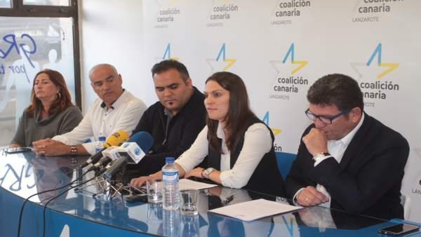 Rueda de prensa de CC Lanzarote