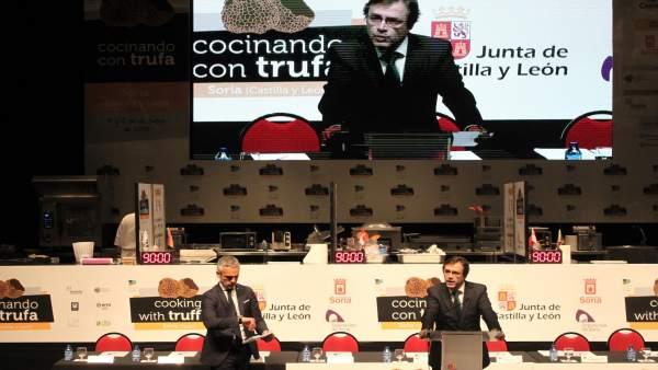 Javier Ramírez en la inauguración.