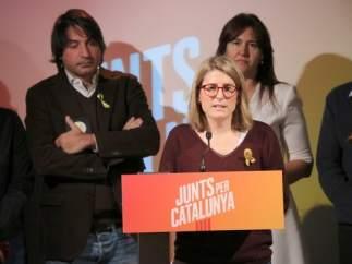 La directora de campaña de Junts per Catalunya, Elsa Artadi, en la presentación del programa electoral.