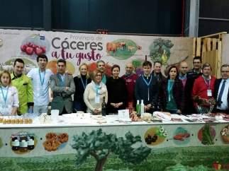 Los productos DOP e IGP de Cáceres en la feria GijónSeCome
