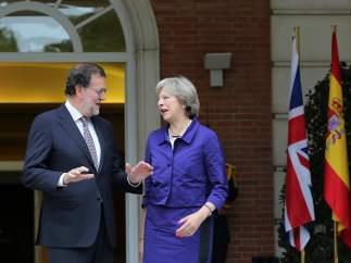 Mariano Rajoy y Theresa May