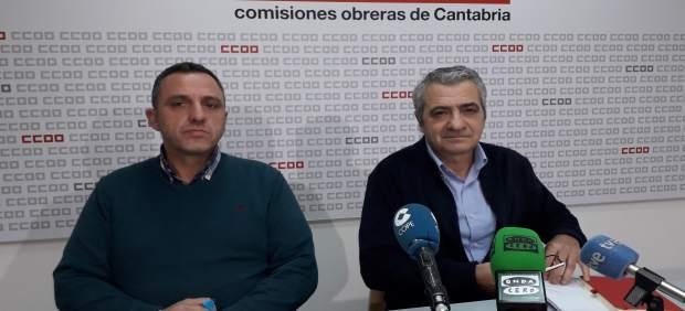 Mariano Carmona y Carlos Sánchez, líderes de UGT y CCOO