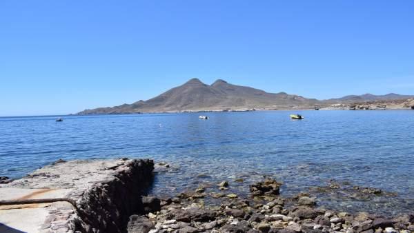 Vista desde la Isleta del Moro, en Níjar