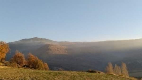 Imagen del incendio de Torre la Ribera (Huesca)