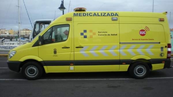 Ambulancia De Soporte Vital Avanzado Del Servicio De Urgencias Canario (SUC)
