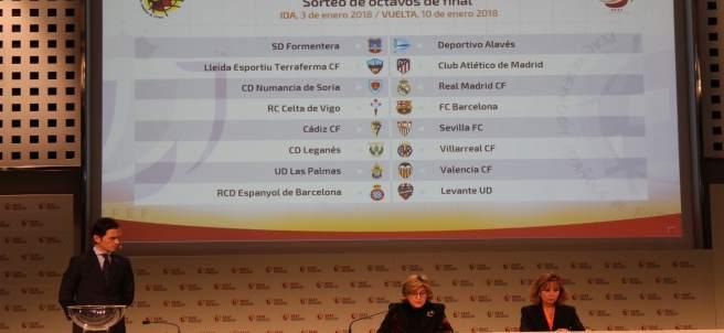 Cuadro del sorteo de octavos de la Copa del Rey 17-18