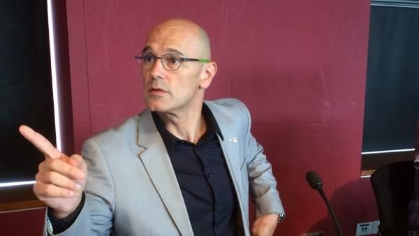 El conseller de Exteriores cesado y 'número tres' de ERC a las elecciones del 21-D,Raül Romeva.