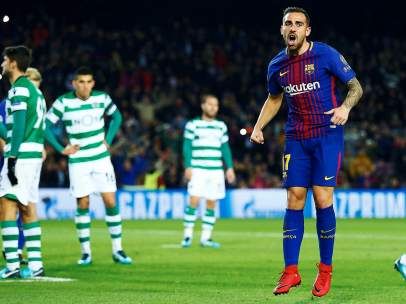 Paco Alcácer ante el Sporting