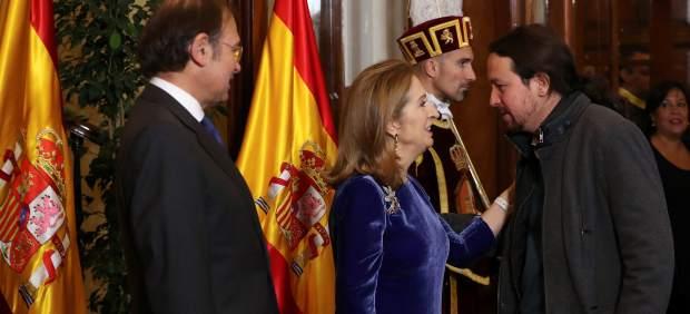 Pablo Iglesias en el Congreso por el Día de la Constitución