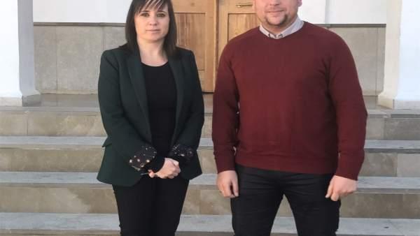 La alcaldesa de Las Gabias y el alcalde de Cúllar Vega (Granada)