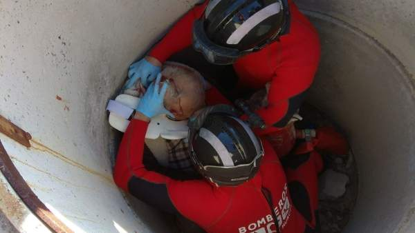 Rescate de un hombre en la Ermita de San Roque en Ceutí