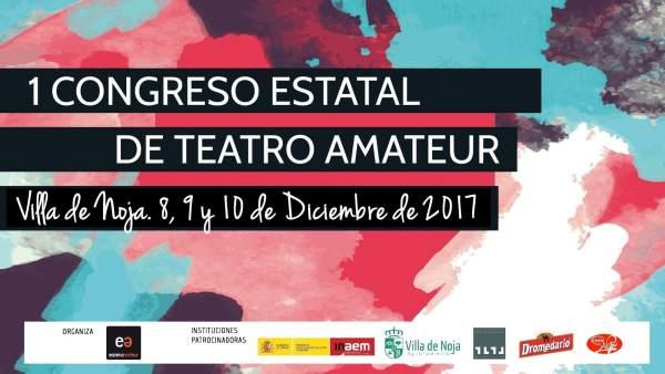 Cartel I Congreso Estatal de Teatro Amateur en Noja