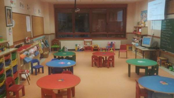 Aula infantil, clase de colegio, colegio