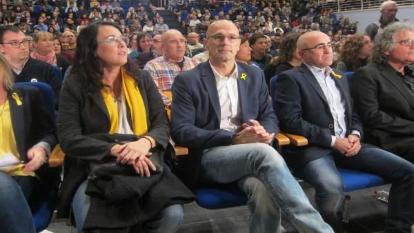 D.Riba, los candidatos de ERC R.Romeva y O.Peris