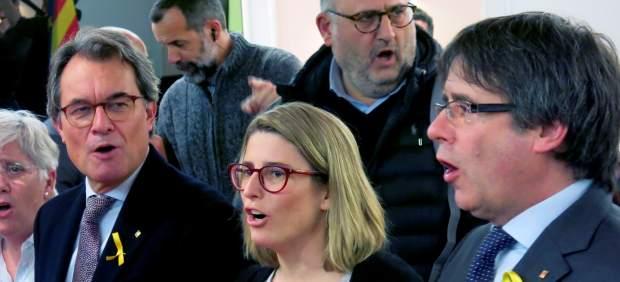 Artur Mas y Puigdemont en Bruselas