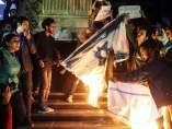 Protesta en El Cairo contra Trump e Israel