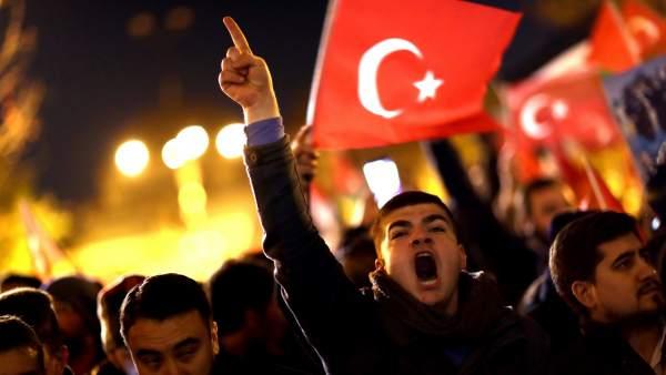 Protesta en Estambul contra Trump e Israel